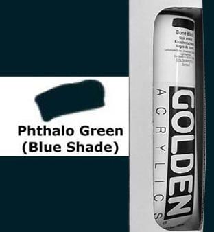 Golden Artist Colors Heavy Body Acrylic: 5oz Phthalo Green Blue Shade