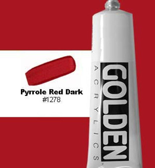 Golden Artist Colors Heavy Body Acrylic 2 oz Pyrrole Red Dark