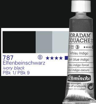 Schmincke Horadam Gouache 15ml Ivory Black