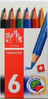 Caran d'Ache Fancolor Mini Watercolor Pencil Set of 6