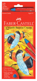 Faber-Castell Red Label Jumbo Beeswax Crayons Set of 12