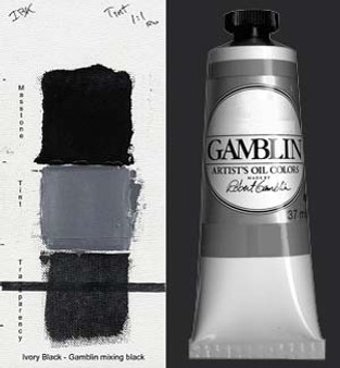 Gamblin Artists Oil Color 37ml Series 1: Ivory Black