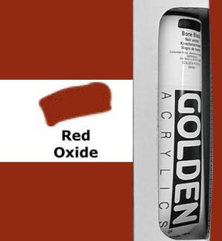 Golden Artist Colors Heavy Body Acrylic: 5oz Red Oxide