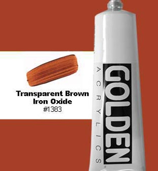 Golden Artist Colors Heavy Body Acrylic 2 oz Transparent Brown Iron Oxide