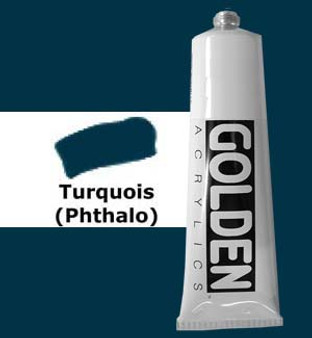 Golden Artist Colors Heavy Body Acrylic: 2oz Turquoise Phthalo