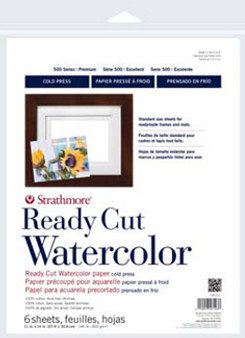 Strathmore Ready Cut Watercolor Pack Cold Press 5x7 25sh