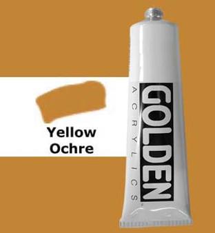 Golden Artist Colors Heavy Body Acrylic: 2oz Yellow Ochre