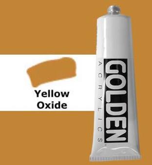 Golden Artist Colors Heavy Body Acrylic: 2oz Yellow Oxide