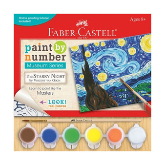 "Faber-Castell Red Line Paint by Number Museum Series ""Starry Night"" VanGogh"