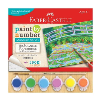 "Faber-Castell Paint by Number Museum Series "" Japanese Footbridge"" Monet"