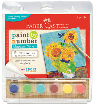"Faber-Castell Red Line Paint by Number Museum Series ""Sunflowers"" VanGogh"