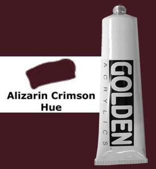 Golden Artist Colors Heavy Body Acrylic: 2oz Historical Alizarin Crimson Hue