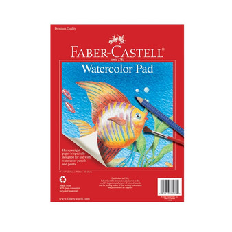 Faber-Castell Red Label Watercolor Paper Pad 9x12