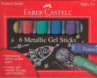 Faber-Castell Red Label Metallic Gel Sticks 6pk