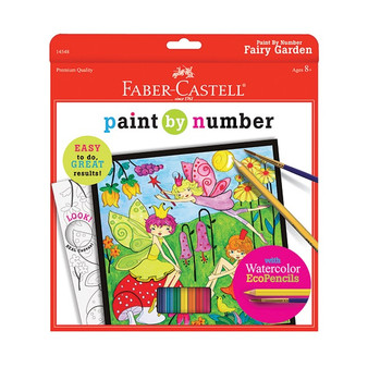 Faber-Castell Red Label Paint by Number Fairy Garden