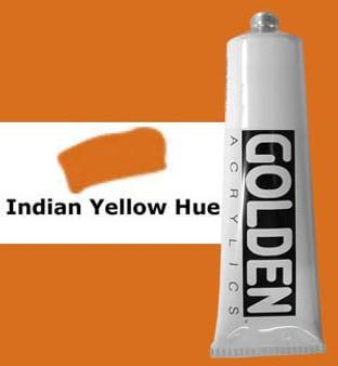 Golden Artist Colors Heavy Body Acrylic: 2oz Historical Indian Yellow Hue