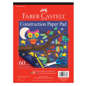 Faber-Castell Red Label Construction Paper Pad 9x12