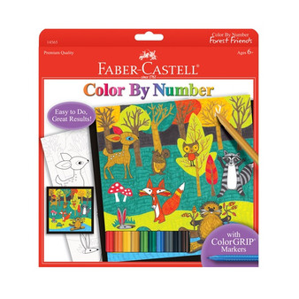 Faber-Castell Red Label Color by Number Forest Friends
