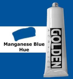 Golden Artist Colors Heavy Body Acrylic: 2oz Historical Manganese Blue Hue