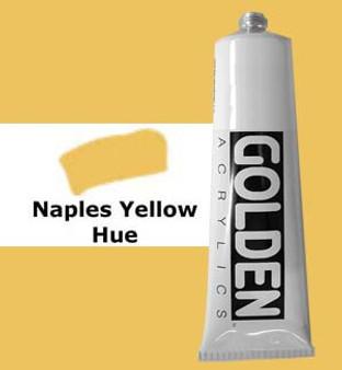 Golden Artist Colors Heavy Body Acrylic: 2oz Historical Naples Yellow Hue