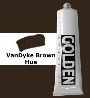 Golden Artist Colors Heavy Body Acrylic: 2oz Historical Vandyke Brown Hue