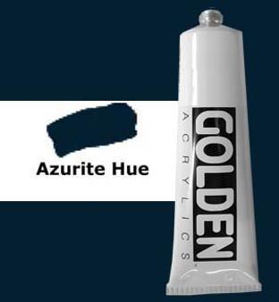 Golden Artist Colors Heavy Body Acrylic: 2oz Historical Azurite Hue