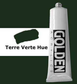 Golden Artist Colors Heavy Body Acrylic: 2oz Historical Terre Verte Hue