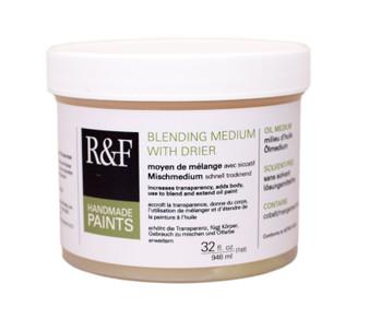 R&F Pigment Stick Blending Medium with Drier 32oz Jar