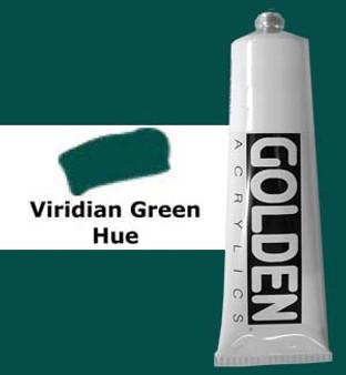 Golden Artist Colors Heavy Body Acrylic: 2oz Historical Viridian Green Hue