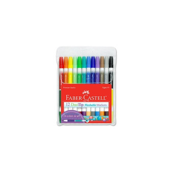 Faber-Castell Red Label DuoTip Washable Marker Set of 12