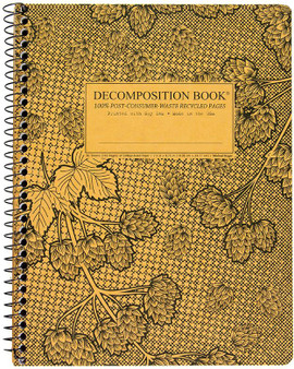 Michael Roger Press Decomposition Notebook Coilbound Ruled Cascade Hops