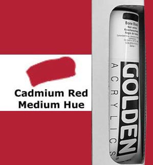 Golden Artist Colors Heavy Body Acrylic: 5oz Cadmium Red Medium Hue