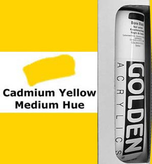 Golden Artist Colors Heavy Body Acrylic: 5oz Cadmium Yellow Medium Hue