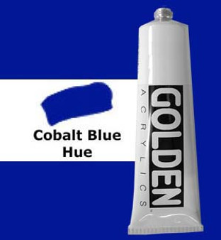 Golden Artist Colors Heavy Body Acrylic: 2oz Cobalt Blue Hue