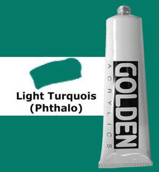 Golden Artist Colors Heavy Body Acrylic: 2oz Light Turquoise Phthalo