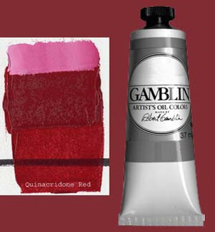 Gamblin Artists Oil Color 37ml Series 3: Quinacridone Red
