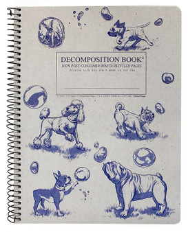 Michael Roger Press Decomposition Notebook Coilbound Ruled Dogs and Bubbles