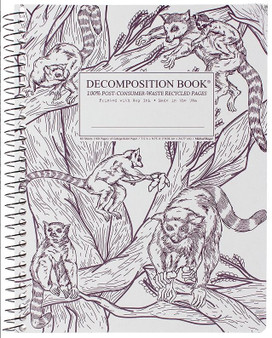 Michael Roger Press Decomposition Notebook Coilbound Ruled Leaping Lemurs