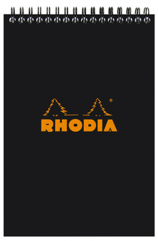 Rhodia Wire Topbound 6x8.25 Lined Black