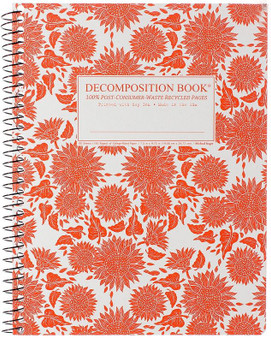 Michael Roger Press Decomposition Notebook Coilbound Ruled Sunflowers