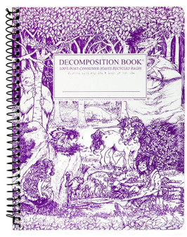 Michael Roger Press Decomposition Notebook Coilbound Ruled Fairy Tale Forest