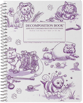 Michael Roger Press Decomposition Notebook Coilbound Ruled Costume Cats