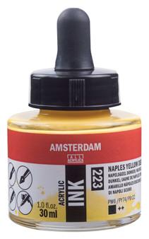 Amsterdam Acrylic Ink 30ml Bottle Naples Yellow Deep