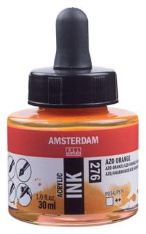 Amsterdam Acrylic Ink 30ml Bottle Azo Orange