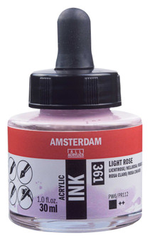 Amsterdam Acrylic Ink 30ml Bottle Light Rose