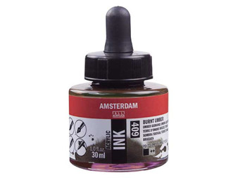 Amsterdam Acrylic Ink 30ml Bottle Burnt Umber