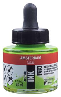 Amsterdam Acrylic Ink 30ml Bottle Yellowish Green