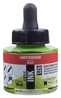 Amsterdam Acrylic Ink 30ml Bottle Olive Green Light