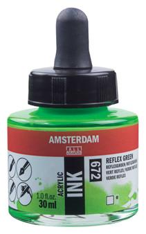 Amsterdam Acrylic Ink 30ml Bottle Reflex Green