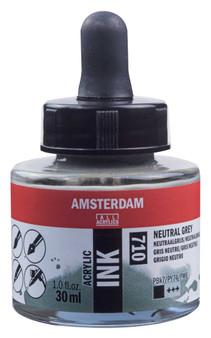 Amsterdam Acrylic Ink 30ml Bottle Neutral Grey